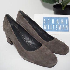Stuart Weitzman Marymid Women's Block Heel Pumps
